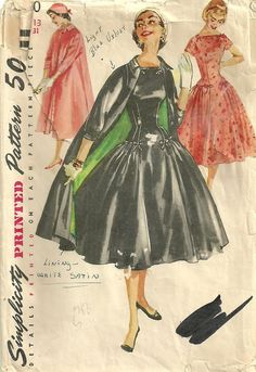 Vintage Fifties Sewing Pattern from Simplicity 1460