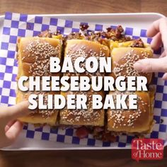 Bacon Cheeseburger Slider Bake Recipe