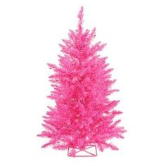 Hot Pink Pre-lit Christmas Tree. *I DO, want this*