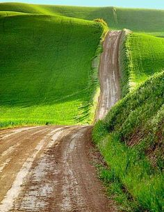 Road to the green hills - Scotland!