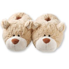 Cuddly Bear Slippers £14.99 - Gorgeously fluffy slippers made from luxuriously soft plush inside and out. PVC sole with rubber multi grip for slip resistance. Fits most feet up to women's size 6.