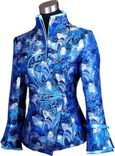 Shop periwing sapphire brocade butterfly button v collar chinese jacket. Find latest oriental fashion products from idreammart.com.
