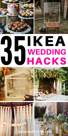 Weddings are expensive so if you can use some Ikea hacks to create beautiful decor then it's got to be a good idea! These awesome Ikea wedding hacks use some pretty plain items transformed into something gorgeous for your wededing. Ikea Wedding, Wedding Tips, Rustic Wedding, Wedding Hacks, Cheap Wedding Ideas, Movie Wedding, Blue Wedding, Wedding Events, Wedding Planning