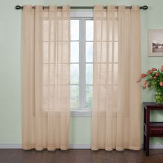 Arm & Hammer Curtain Fresh Odor-Neutralizing Curtain Panel (Latte, 95), Brown, Size 59 x 95 (Polyester, Solid)