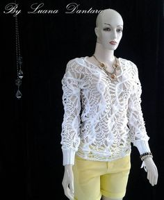 Blusa  crochê  de  grampoesta  foi  encomenda  para  S.  paulo  SP