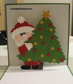 Pop Up Santa card using punches