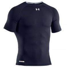 UNDER ARMOUR HeatGear Sonic Compression Short Sleeve Base Layer Shirt -  Black   White Compression Shorts 6fafc8a390c