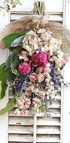 Dried Flower Bouquet Dried Flower Arrangement with Dried Roses , Peonies, Farmhouse Decor via Etsy. Dried Flower Bouquet, Dried Flowers, Fresh Flowers, Beautiful Flowers, Deco Floral, Arte Floral, Corona Floral, Drying Roses, Pot Pourri