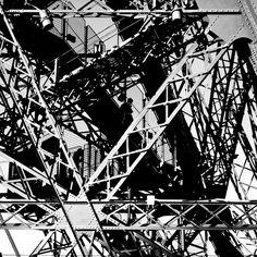 eiffel, eiffel tower, steel art, metal art, industrial era, industrial art, icon of paris, paris, black and white, abstract, photo, photography, architecture photography, art in architecture, limited edition, print, fine art, archival print, online art, buy print