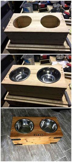 "DIY Pallet Dog Bowl Stand - Pallets Pro #""contemporaryoutdoorfurniture"""