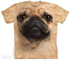 #ebay Details about   WOMEN'S OR MEN'S PLUS SIZE T-SHIRT PUG FACE STONEWASHED MULTICOLORED SIZE 5XL - $14.99 (save 25%) #tshirt #dog #puppy