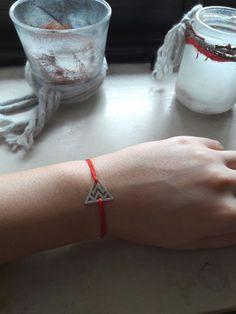 Triangle | Dreieck Armband schnur handmade 925 Silver