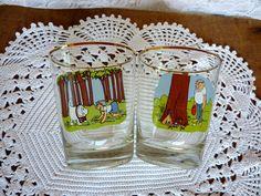 Vintage Pair Comic Golf Cocktail Glass. via Etsy.
