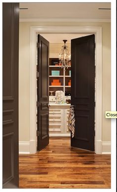Paint all  interior doors espresso brown for contrast
