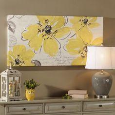 Windy Yellow Canvas Art Print | Kirkland's