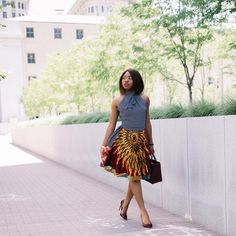 Happy Labor Day ⠀Crushing on this stunning ankara print outfit #ankarafashion #ankarastyles @lapassionvoutee
