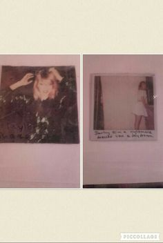 Both sides of my 1989 coaster by Chloe Is a Swiftie.  Credit goes to Claire Jaques for letting me use her Shake It Off cover edit on the left.  The one on the right is my fave 1989 polaroid...like ever!