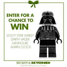 Luke... I am your alarm clock. Great gift for your Star-Wars-obsessed friends. (NO PURCHASE NECESSARY TO ENTER OR WIN. Ends 12/18/13)