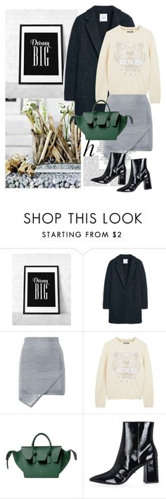 """""""Untitled #1930"""" by ivonce ❤ liked on Polyvore featuring WALL, Whiteley, MANGO, Boohoo, Kenzo and Topshop"""