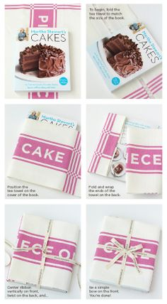 Studiopatro: Exclusive Piece of Cake Tea Towel & Signed Martha Stewart Cake Book