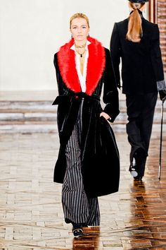 #RalphLauren #NYFW. In Love with this Coat & Trousers.  Promenade, Victorian Iconoclast!