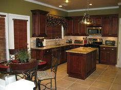 BrandyWine Maple Kitchen Cabinets - RTA Kitchen Cabinets.... I LOVE the color of these cabinets