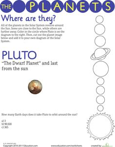 1000 images about space science on pinterest solar system worksheets and planets. Black Bedroom Furniture Sets. Home Design Ideas