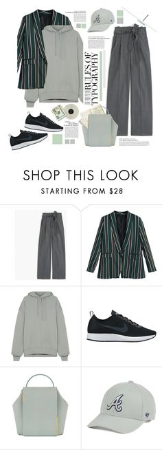 """""""Rules of typography"""" by juhh ❤ liked on Polyvore featuring J.Crew, Acne Studios, NIKE, Onesixone, '47 Brand and Juliajulian"""