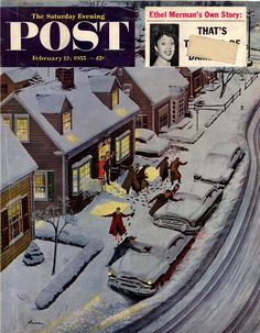 Party After Snowfall. Saturday Evening Post, February 12, 1955 (Ben Kimberly Prins)