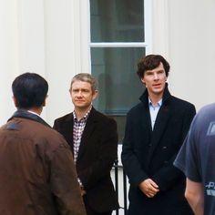 <3 Look how politely they both stand! Freaking precious boys!