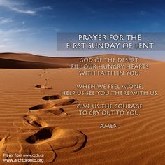 Prayer for the First Sunday of Lent