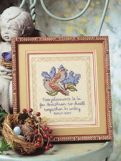 Combine the inspirational beauty of nature with a beloved verse. Stitch Count: 71 wide x 80 high. Cross Stitch Angels, Cross Stitch Love, Cross Stitch Books, Cross Stitch Charts, Cross Stitch Designs, Cross Stitch Patterns, Cross Stitching, Cross Stitch Embroidery, Religious Cross