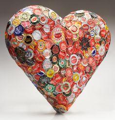 Bottle Cap Heart by