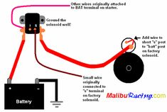 installing a remote ford solenoid/ chevy starter Starter Motor, Auto Starter, Ignition Timing, Electrical Wiring Diagram, Car Insurance, Ford Trucks, Chevy, How To Look Better, Wire