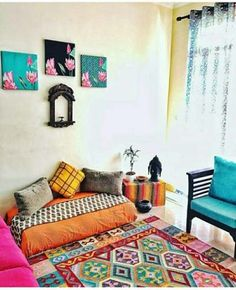 68 Trendy living room decor diy ideas money The Effective Pictures We Offer Indian Room Decor, Moroccan Decor Living Room, Ethnic Home Decor, Indian Living Rooms, Diy Living Room Decor, Home Decor Bedroom, Moroccan Room, Bedroom Small, Diy Bedroom