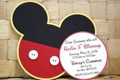 Invitaciones Mickey Mouse hecho a mano  para por PaperletteDesigns