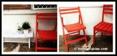 DIY Chair Restoration Tutorial Outdoor Chairs, Outdoor Furniture, Outdoor Decor, Diy Chair, Folding Chair, Restoration, Play, Home Decor, Refurbishment