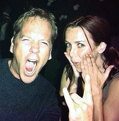 These guys are awesome Kiefer Sutherland and Annie Wersching