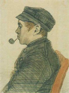 Vincent van Gogh: Young Man with a Pipe,  Nuenen: March, 1884 (Amsterdam, Van Gogh Museum) F 1199, JH 579