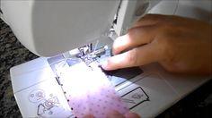 Como colocar babadinho de tecido em fraldas