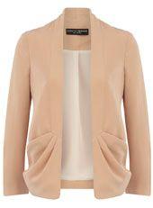 Apricot drape jacket