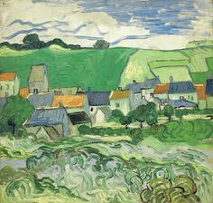 van gogh, a view of auvers, 1890