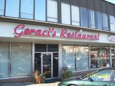 Geraci's in Cleveland, OH. Featured on Diners, Drive-Ins and Dives, this italian restaurant features the most delicious pizza in Cleveland; well, maybe a tie with Mama Santa's in Little Italy!