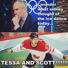CBC Olympics Sochi 2014 Stars On Ice, Tessa And Scott, Scott Moir, Ice Dance, Olympic Champion, Winter Olympics, Figure Skating, Pride, Canada