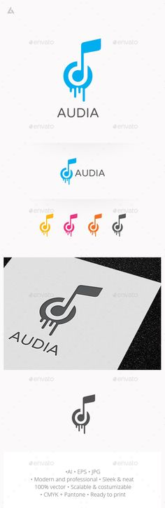 Music logo — JPG Image #simple #cool • Available here → https://graphicriver.net/item/music-logo/14682525?ref=pxcr