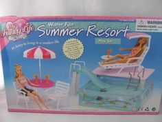 barbie size dollhouse furniture summer resort water fun gloriahttpwww amazoncom barbie size dollhouse