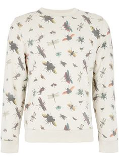 Off White Bugs Patterned Sweatshirt