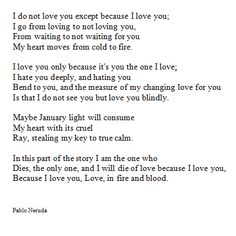 Pablo Neruda English translation