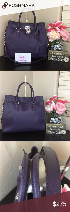 Michael Kors Iris N/S Hamilton Extremely excellent preowned condition. This is a big bag!! Great for any season. Gorgeous deep purple. Rare color! Michael Kors Bags