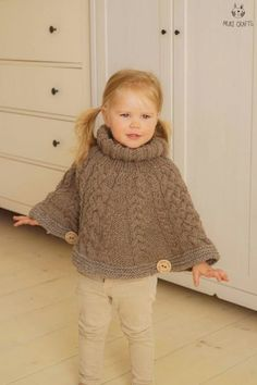 Knitting pattern chunky cable cape poncho verona toddler